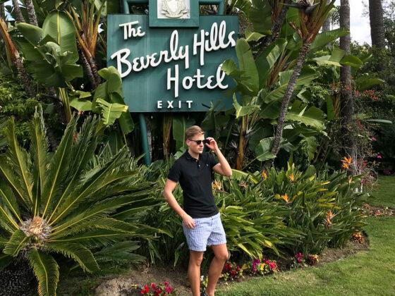 Polo Lounge Beverly Hills Hotel Tord Kroknes Berg utenfor