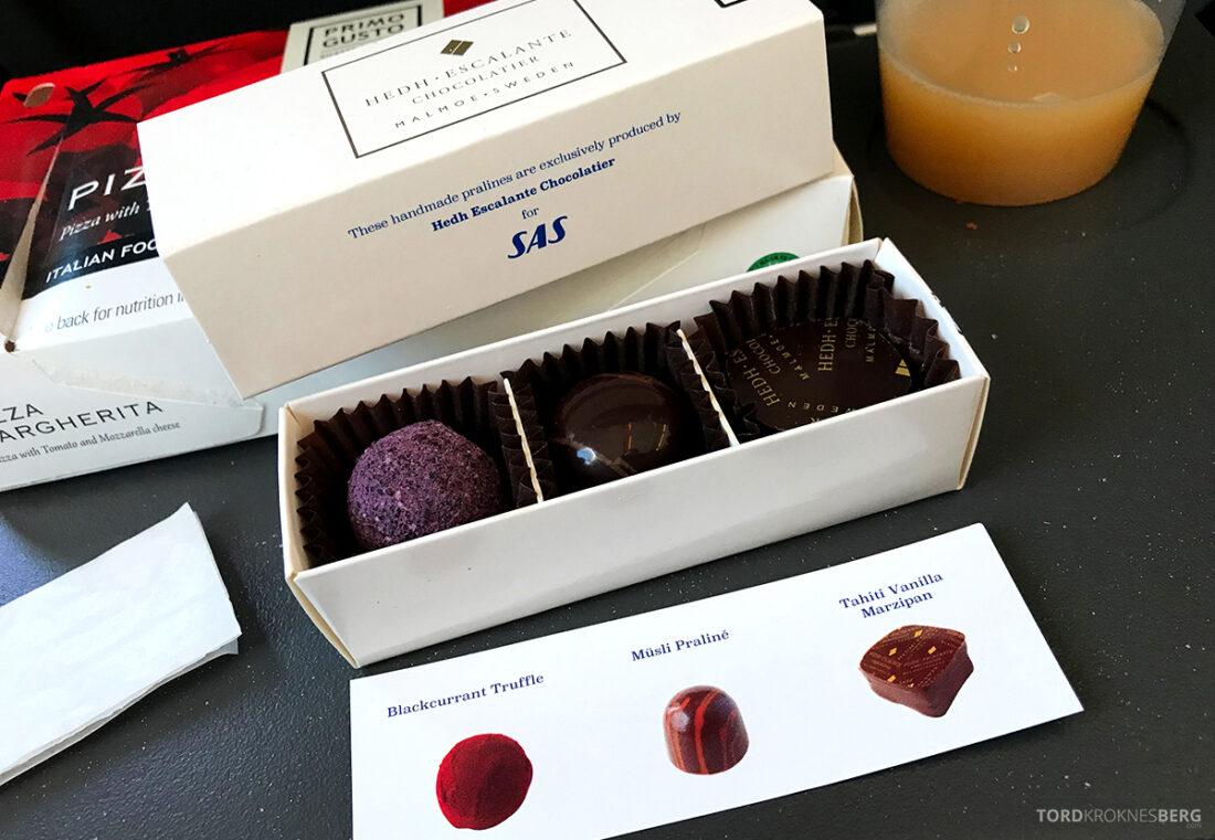 SAS Plus Edinburgh Oslo dessert sjokolade