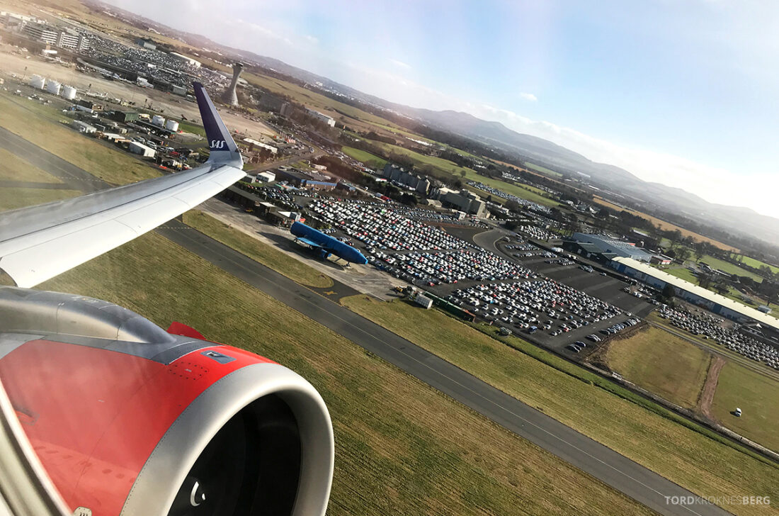 SAS Plus Edinburgh Oslo adjø Skottland