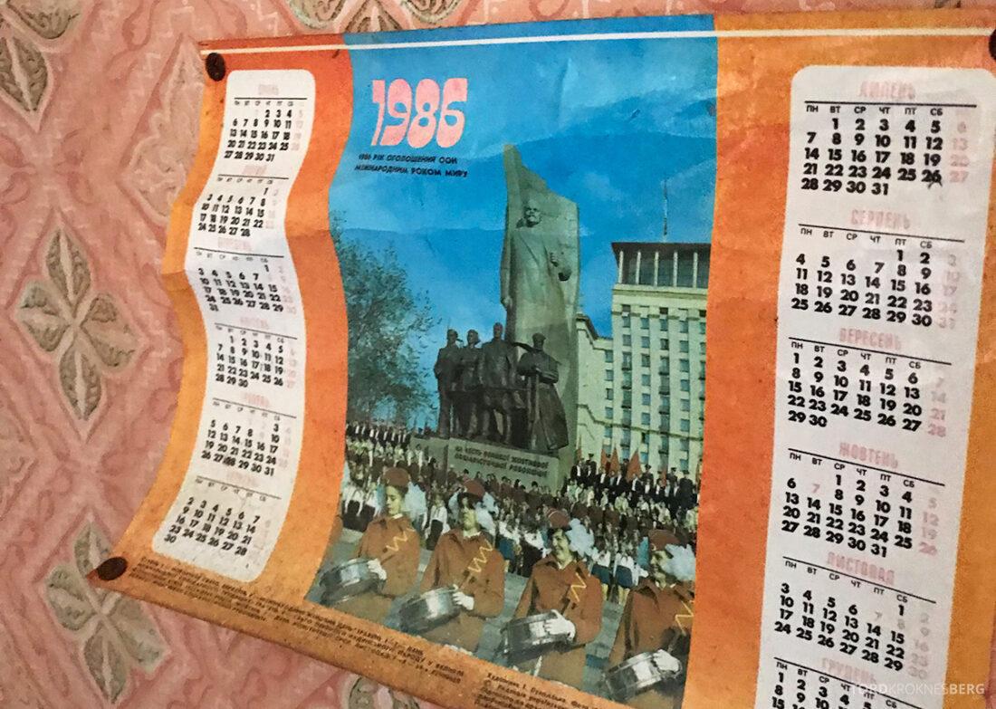 Chernobyl Pripyat Tour kalender 1986