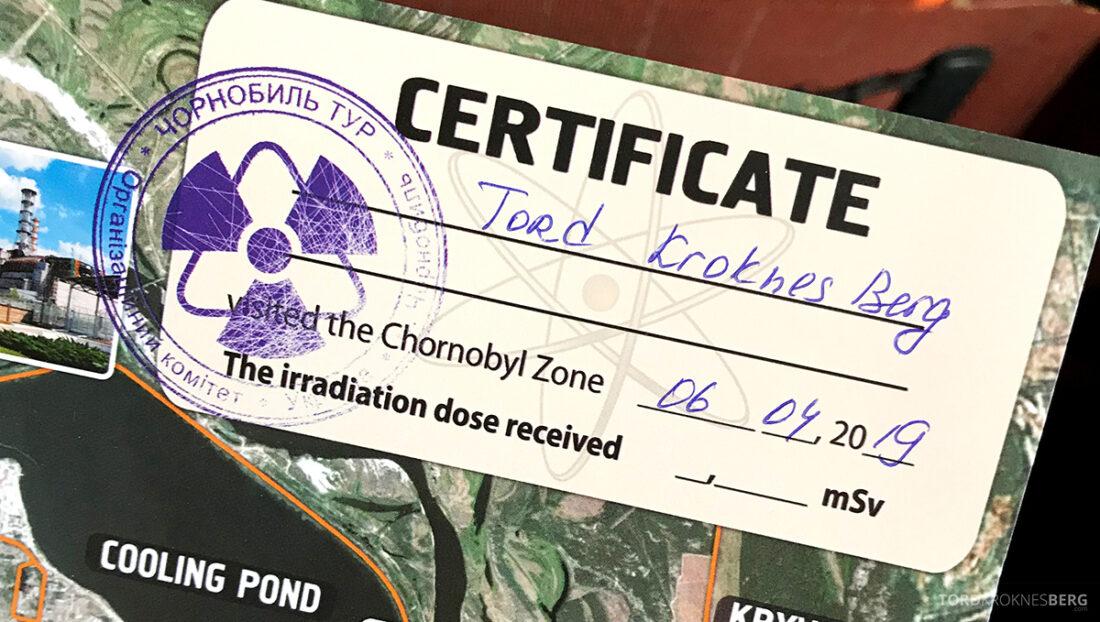 Chernobyl Pripyat Tour sertifikat