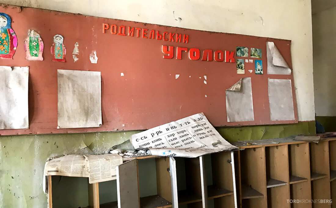 Chernobyl Pripyat Tour tavle barnehave