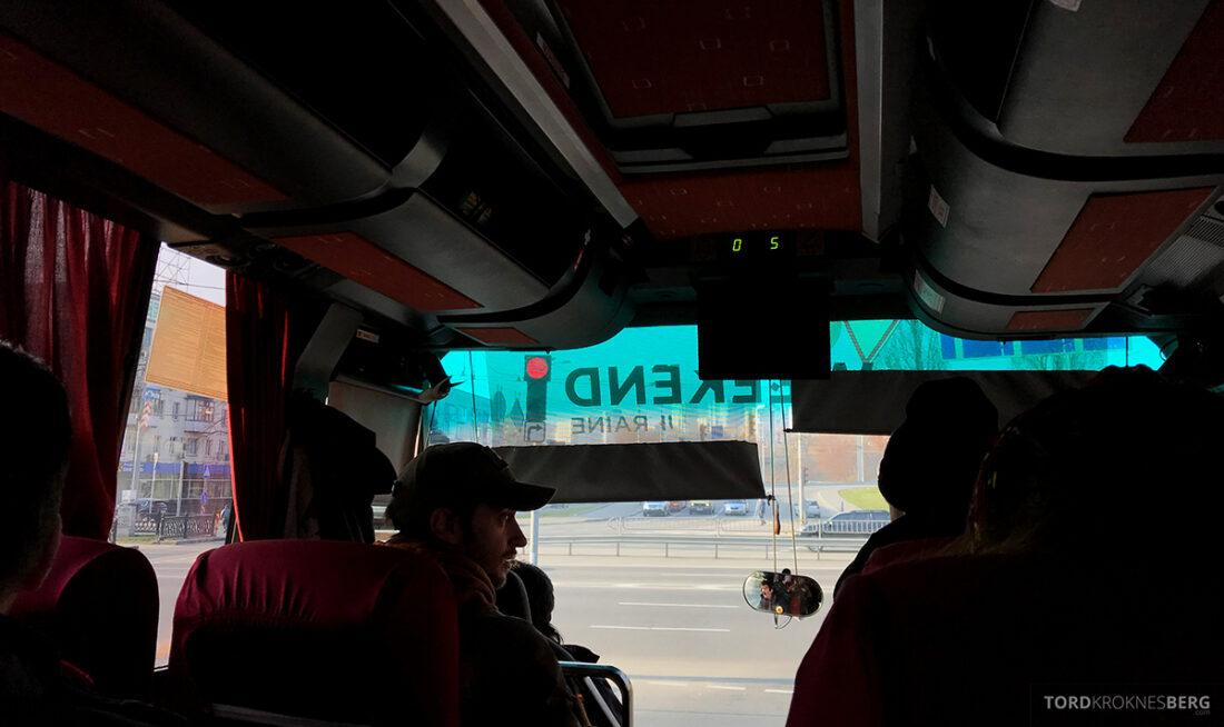 Chernobyl Pripyat Tour buss innvendig