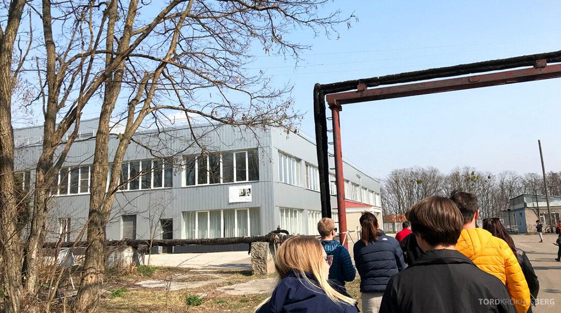 Chernobyl Pripyat Tour på vei mot kantinen