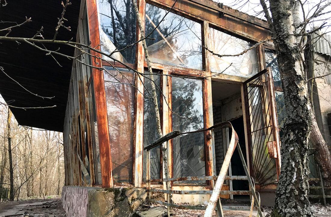 Chernobyl Pripyat Tour restaurant inngang