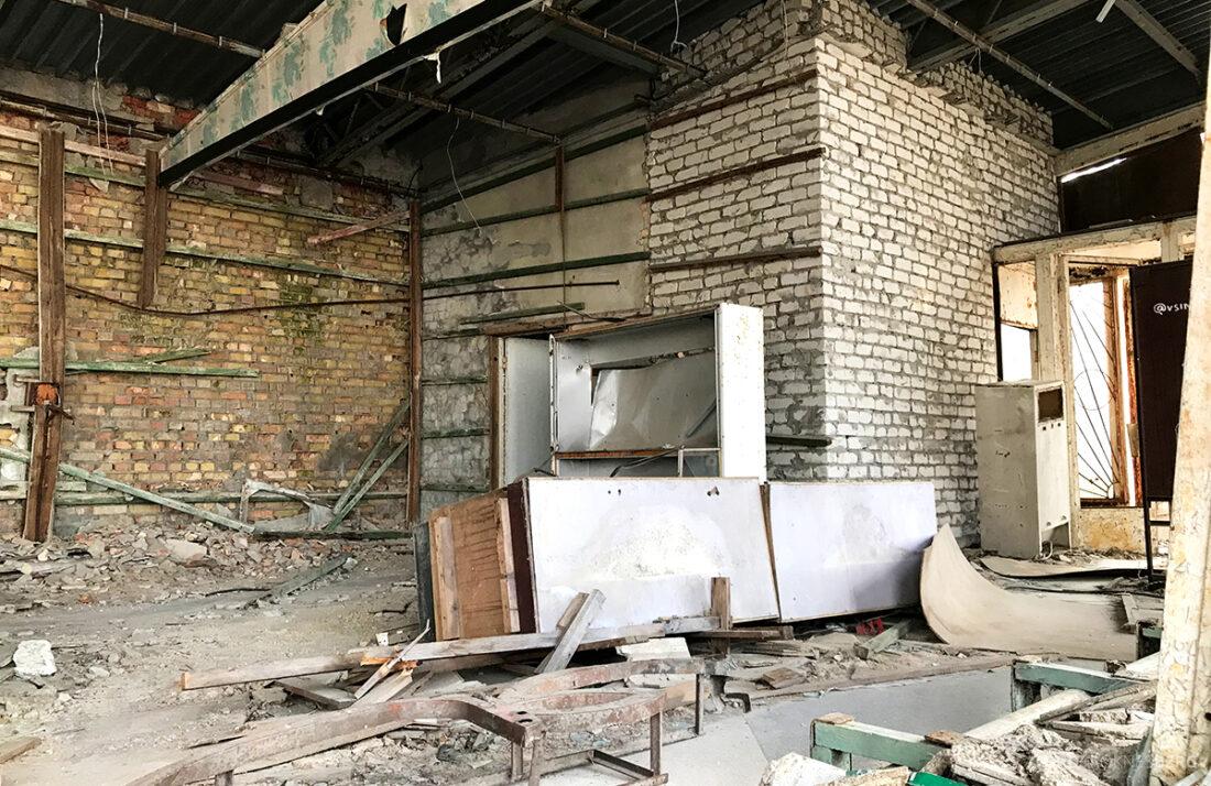 Chernobyl Pripyat Tour restaurant innside