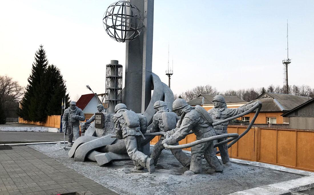 Chernobyl Pripyat Tour monument brannmenn