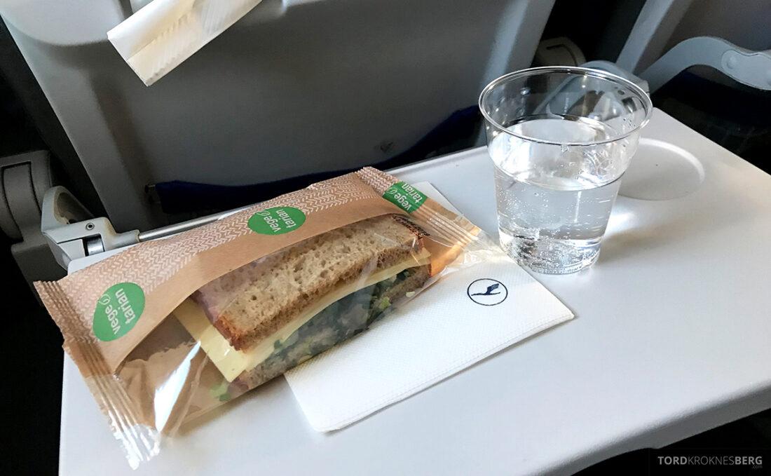 Lufthansa Economy Business Class Oslo Kiev økonomi mat