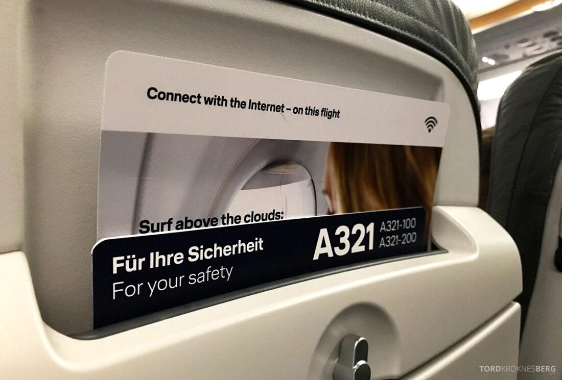 Lufthansa Economy Business Class Oslo Kiev A321