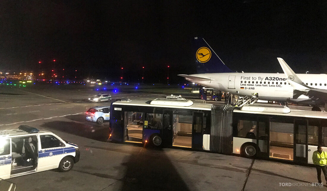 Lufthansa Economy Business Class Oslo Kiev landing Frankfurt