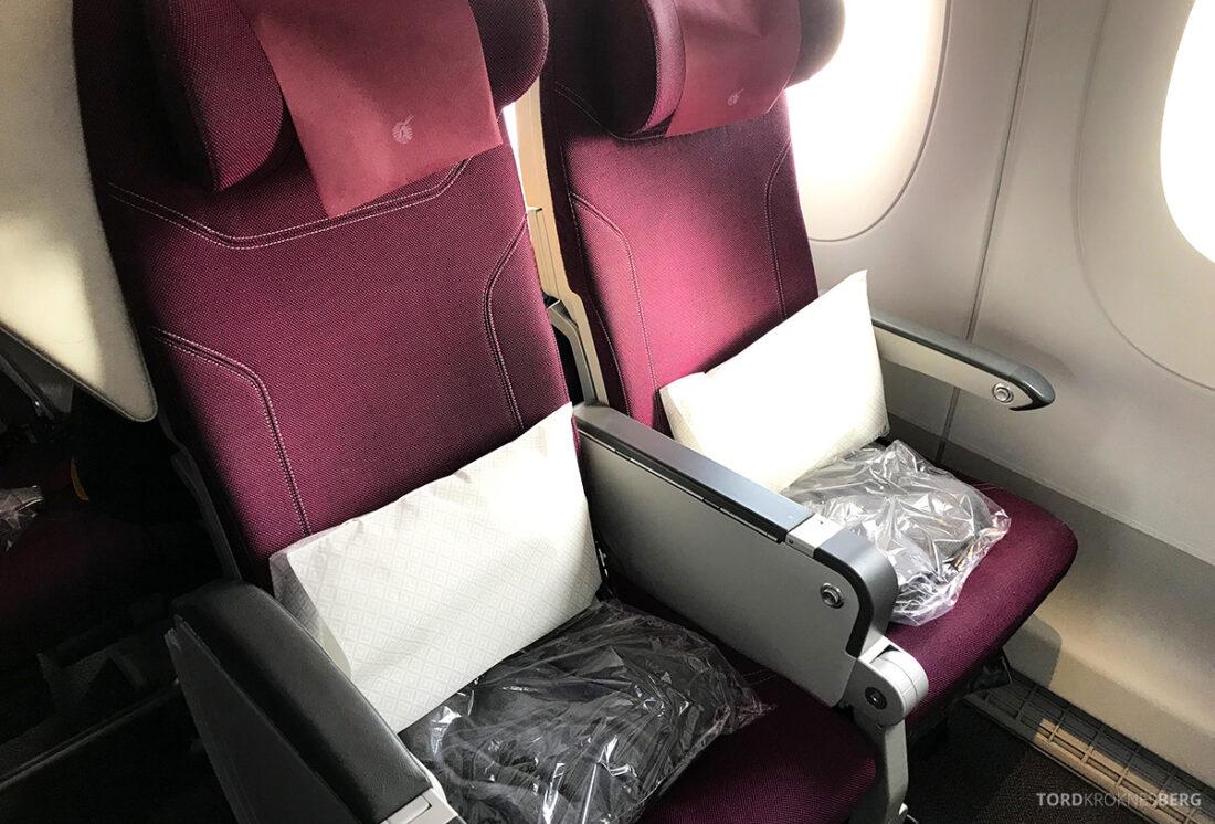 Qatar Airways Economy Class Doha Oslo sete