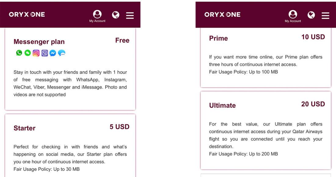 Qatar Airways Economy Class Doha Oslo Wi-Fi