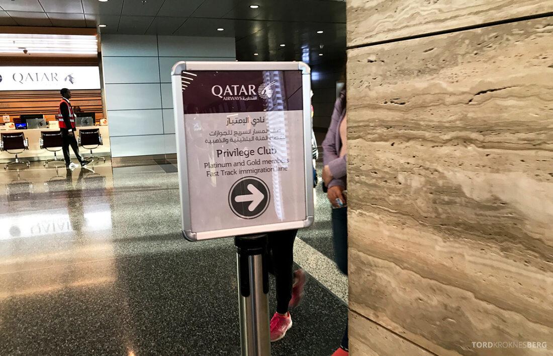 Qatar Airways Economy Class Doha Oslo fast track