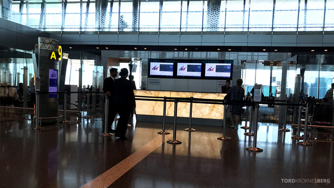 Qatar Airways Economy Class Doha Oslo gate