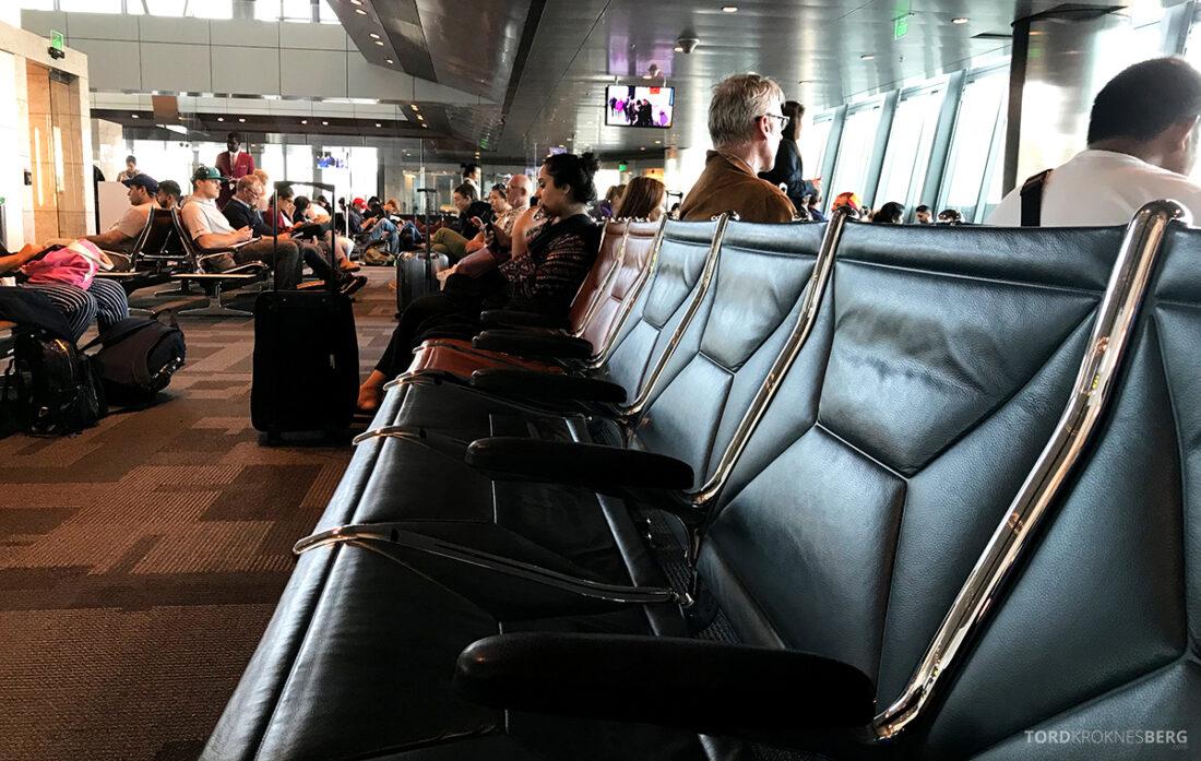 Qatar Airways Economy Class Doha Oslo prioritert sete