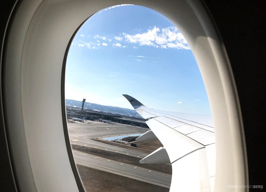 Qatar Airways Economy Class Oslo Doha adjø