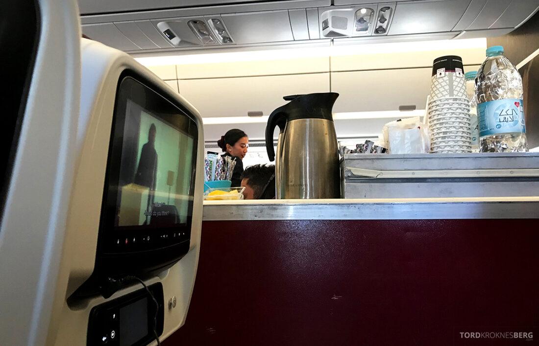 Qatar Airways Economy Class Oslo Doha tralle