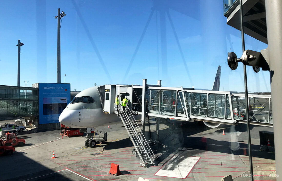Qatar Airways Economy Class Oslo Doha flyvemaskin