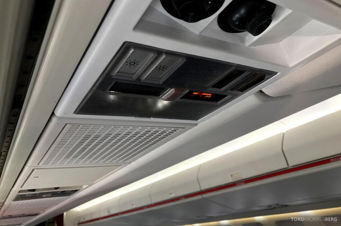 SWISS Economy Class Helvetic Fokker 100 Kiev Oslo panel