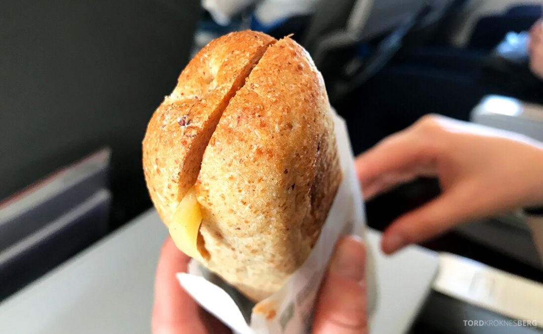 SWISS Economy Class Helvetic Fokker 100 Kiev Oslo sandwich
