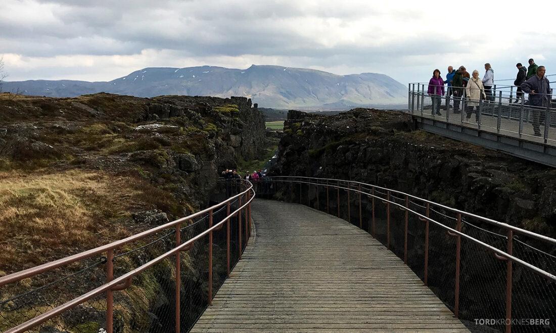 Golden Circle Tour Island Þingvellir nasjonalpark sti