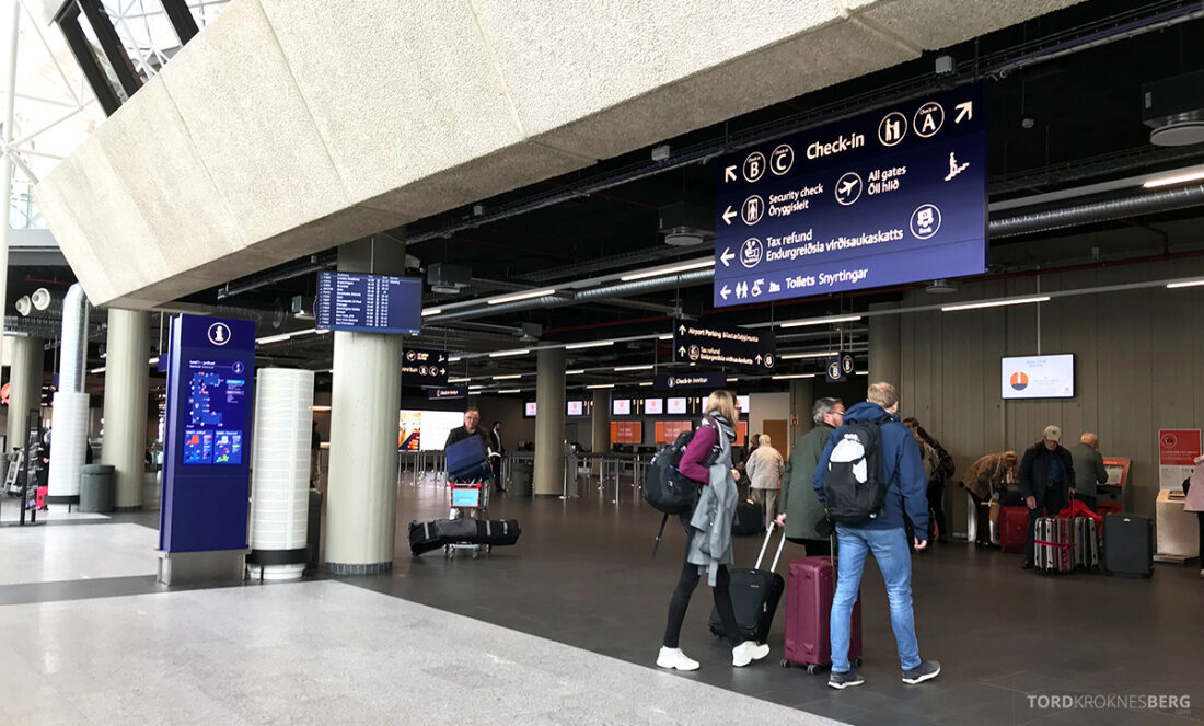SAS Plus Reykjavik Oslo ankomsthall