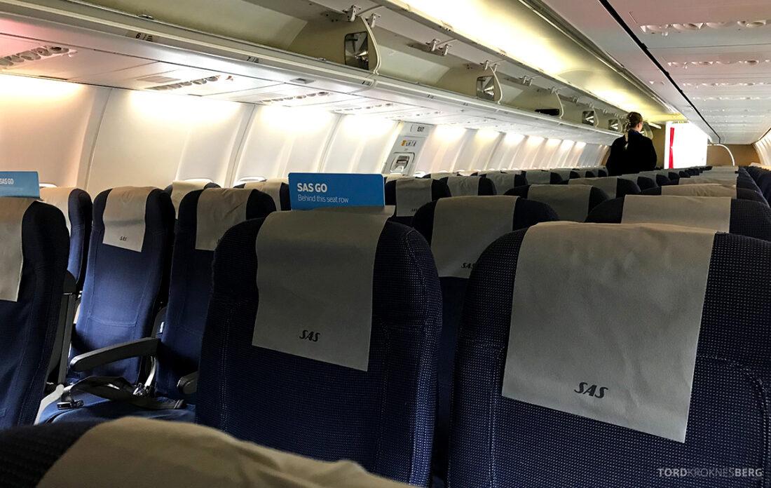 SAS Plus Reykjavik Oslo kabin