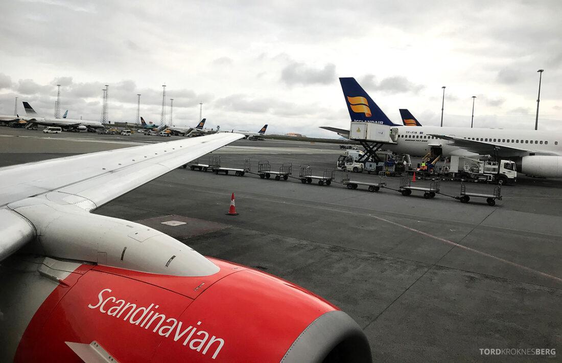SAS Plus Reykjavik Oslo take-off
