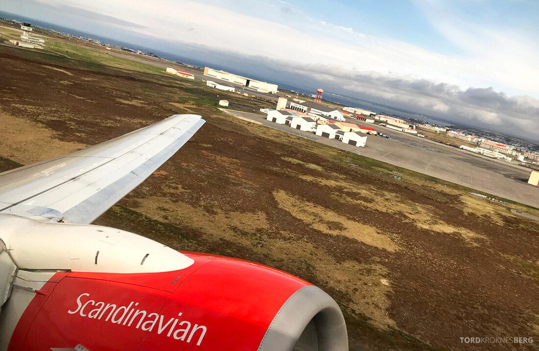 SAS Plus Reykjavik Oslo adjø Island