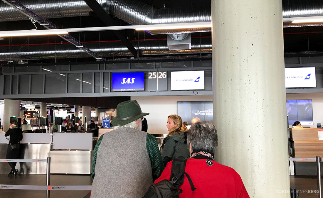 SAS Plus Reykjavik Oslo innsjekk