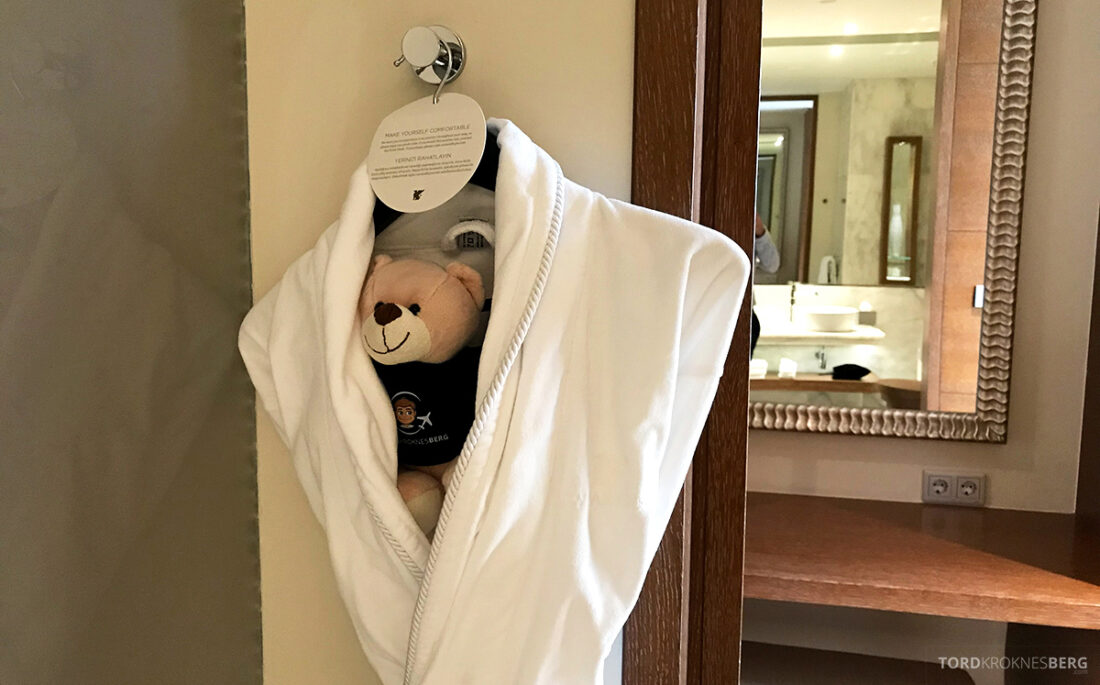 JW Marriott Absheron Hotel Baku badekåpe reisefølge
