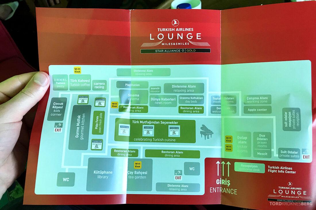 Miles&Smiles Lounge Istanbul oversikt