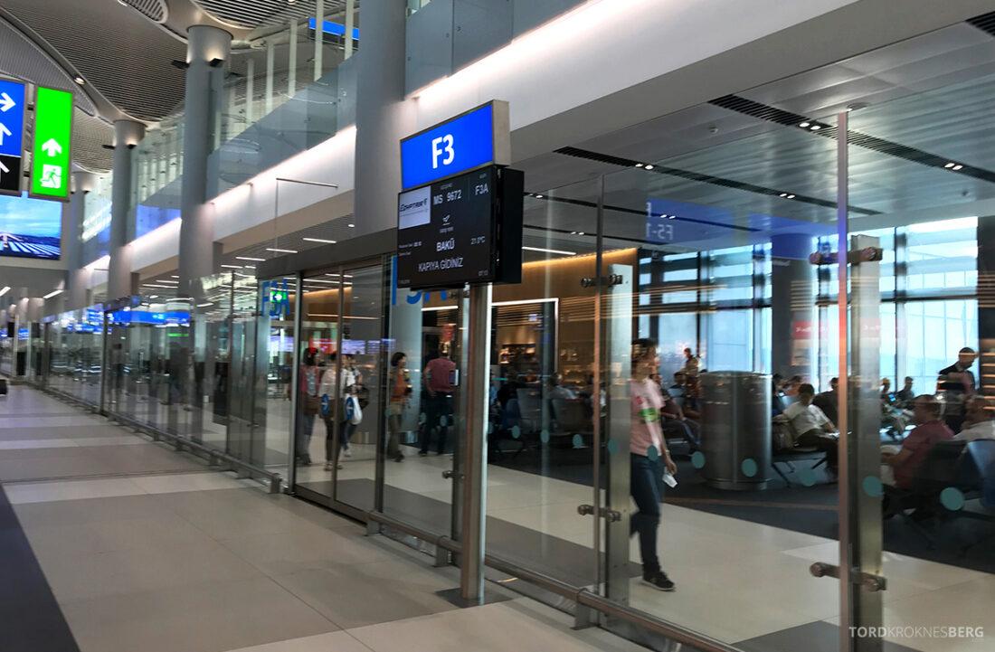 Turkish Airlines Economy Class Istanbul Baku gate