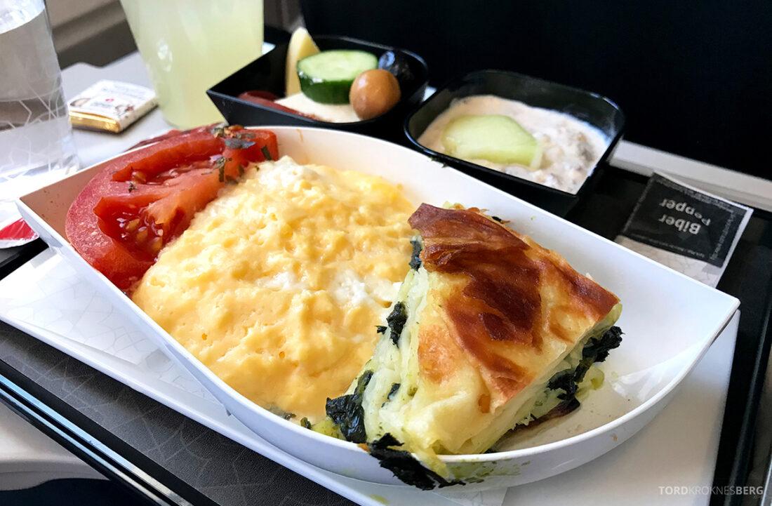 Turkish Airlines Economy Class Istanbul Baku pai