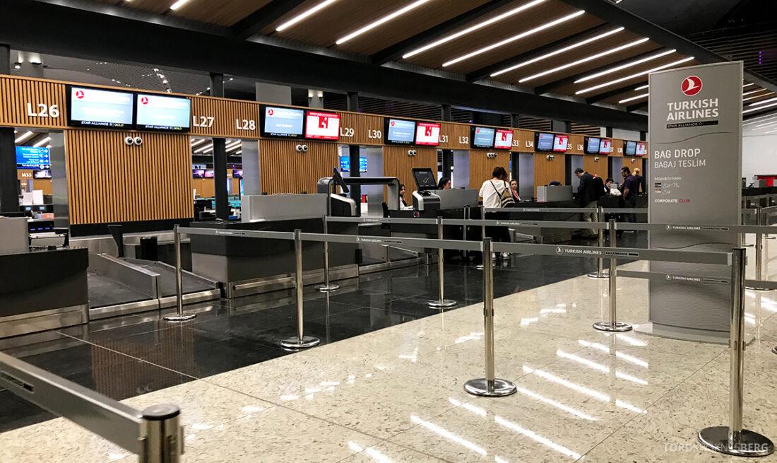 Turkish Airlines Economy Class Istanbul Baku innsjekk