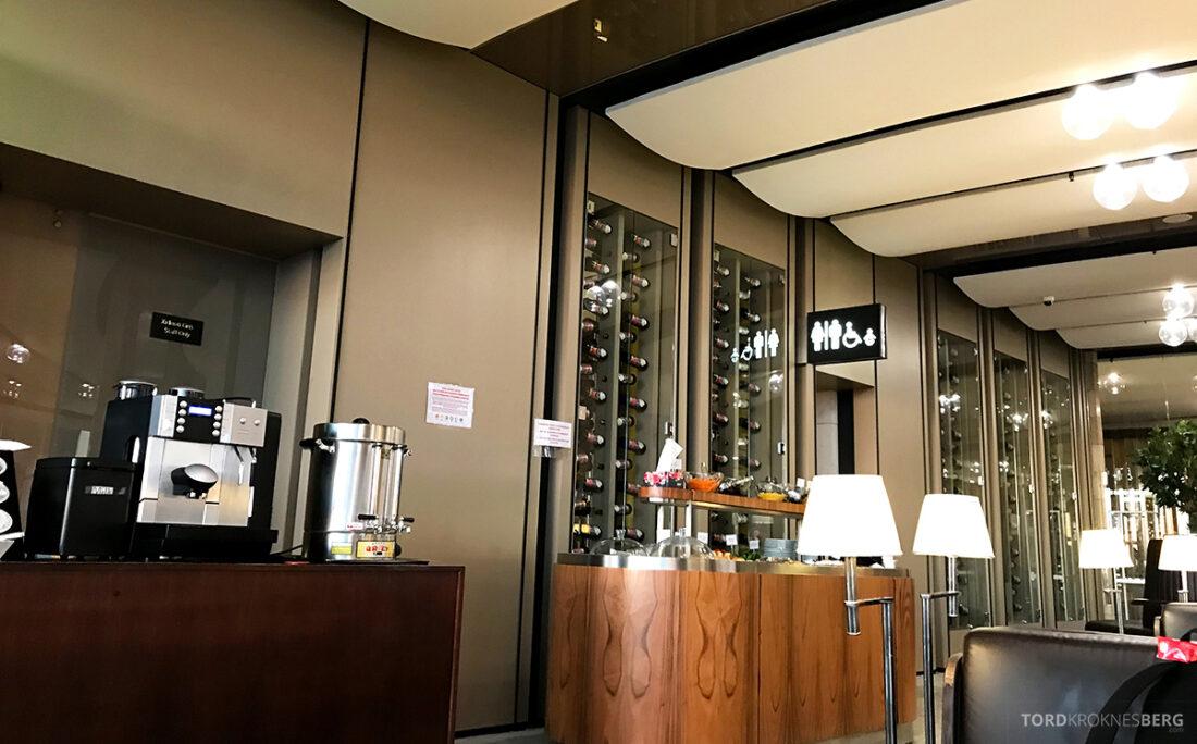 Business Class Lounge Baku utsikt mot buffet