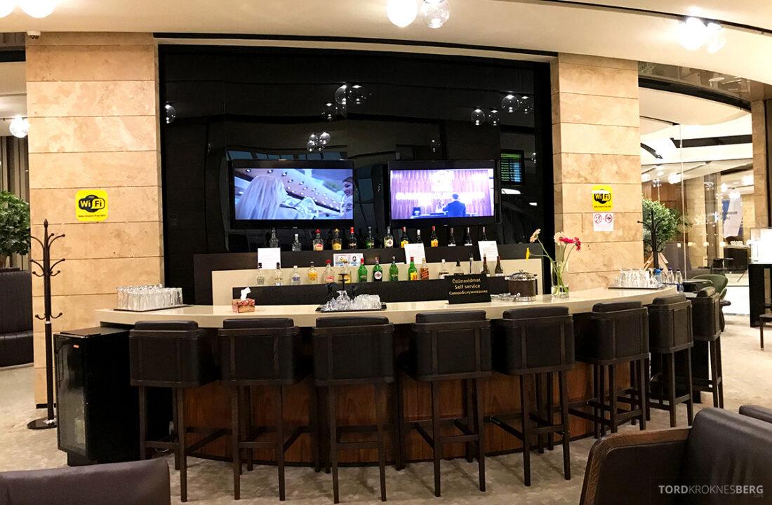 Business Class Lounge Baku oversikt over baren