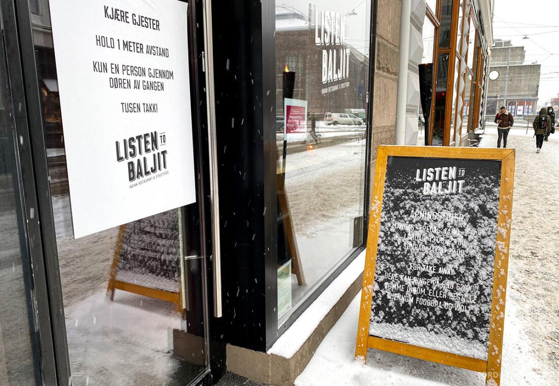 Listen To Baljit Restaurant Frogner Oslo inngang