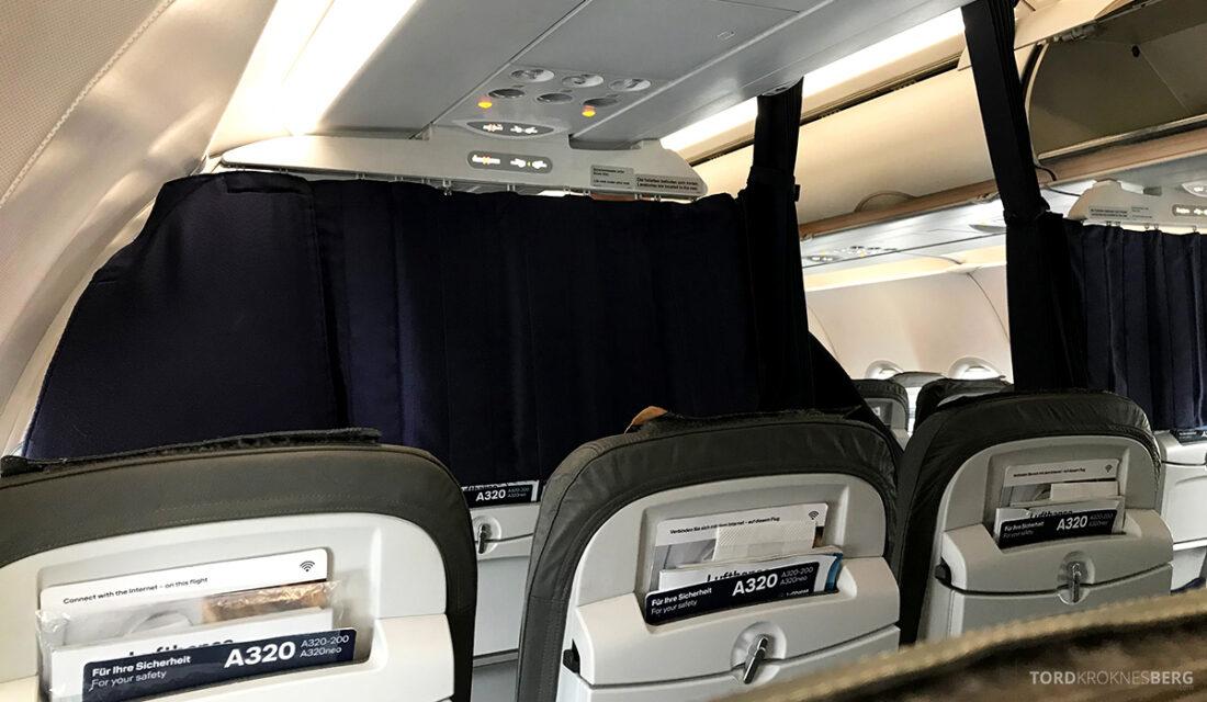 Lufthansa Premium Economy Class Oslo Frankfurt Los Angeles økonomiklasse