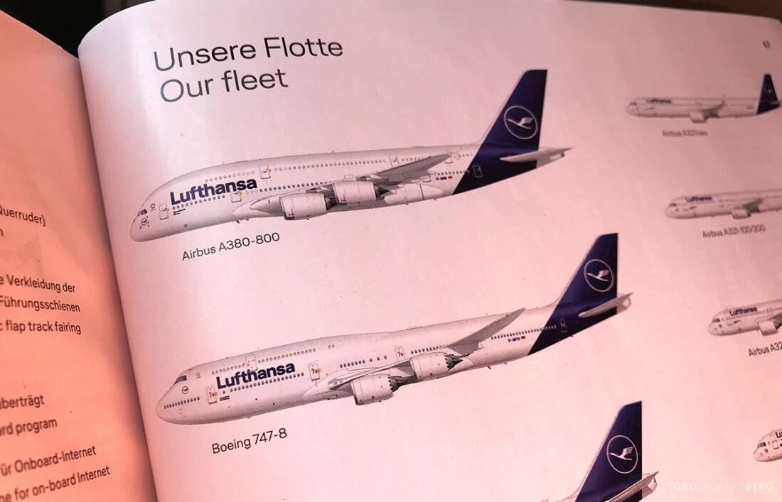 Lufthansa Premium Economy Class Oslo Frankfurt Los Angeles flyvemaskin