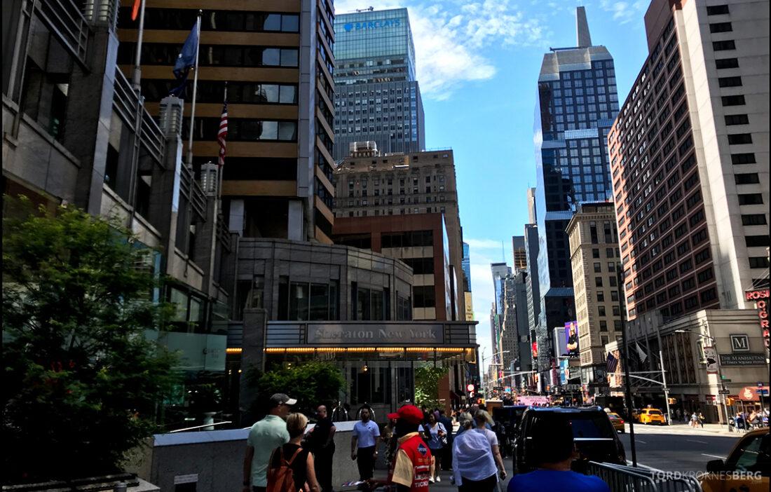 Sheraton New York Times Square Hotel utenfor