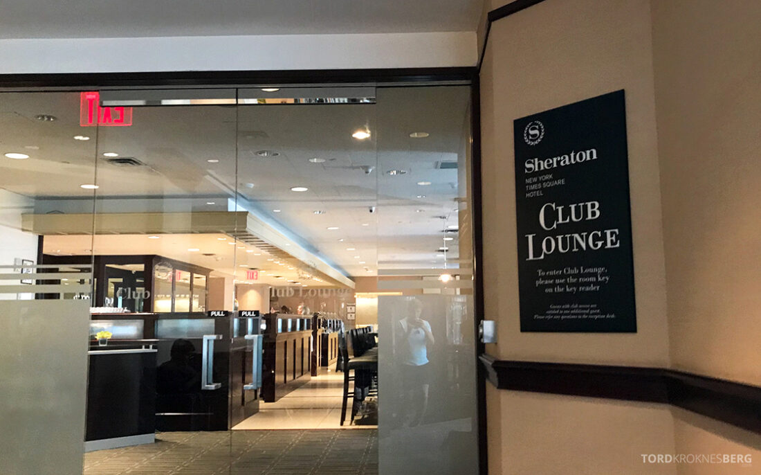Sheraton New York Times Square Hotel Club Lounge inngang