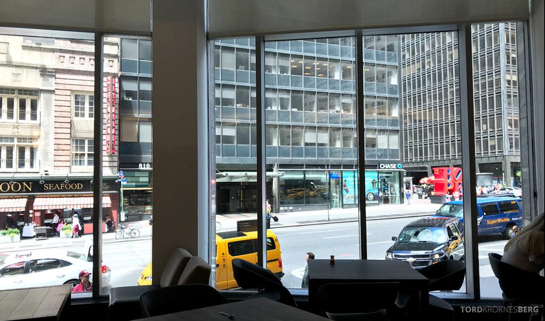 Sheraton New York Times Square Hotel Club Lounge utsikt