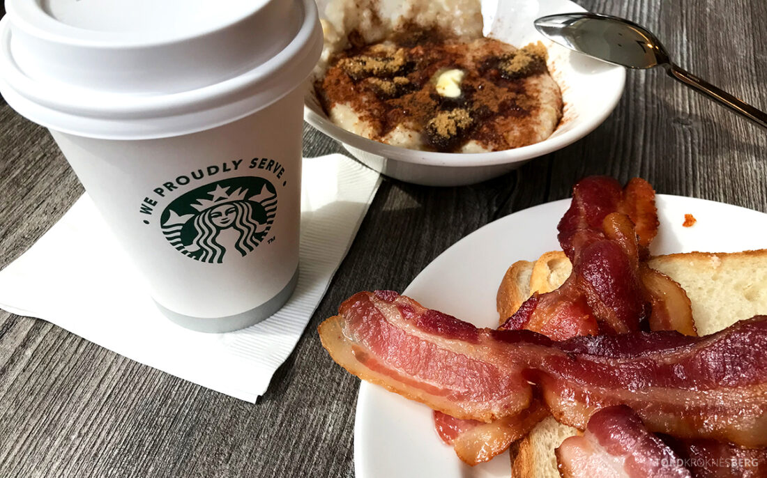 Sheraton New York Times Square Hotel Club Lounge frokost bacon