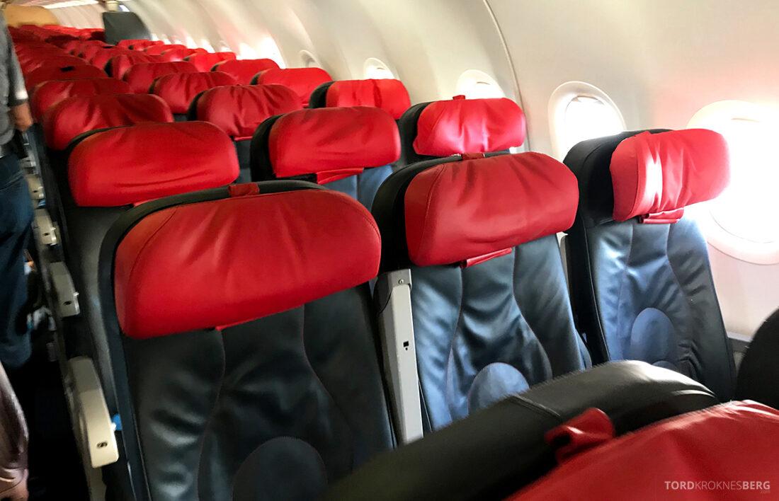 Turkish Airlines Economy Business Class Baku Istanbul Oslo kabin økonomi