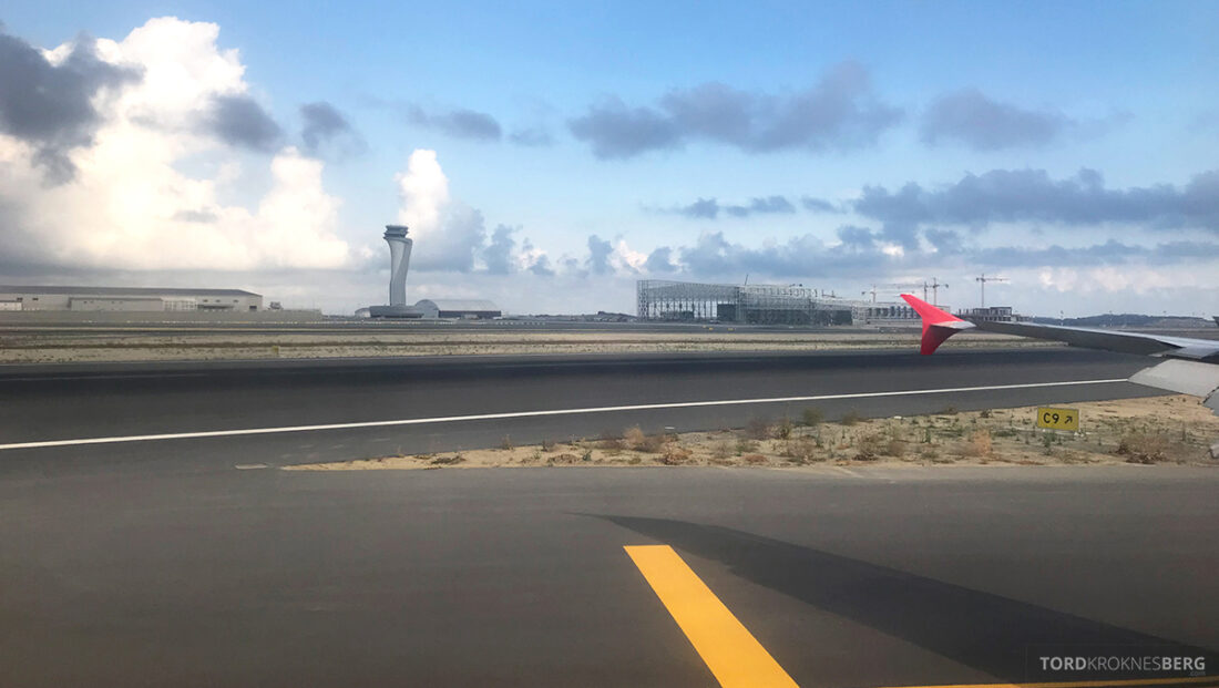 Turkish Airlines Economy Business Class Baku Istanbul Oslo landing Istanbul