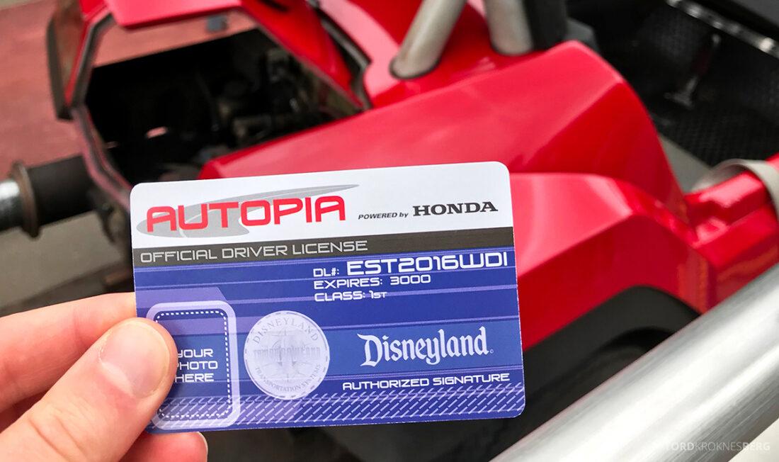 Disneyland California førerkort
